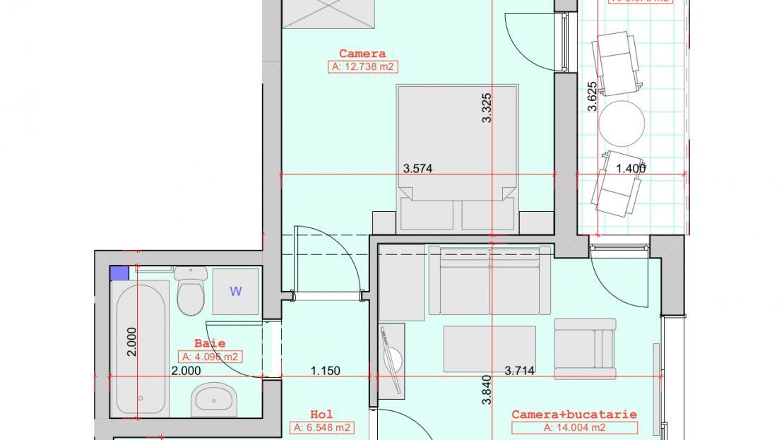 Schite apartamente de vanzare - 2 camere 37500