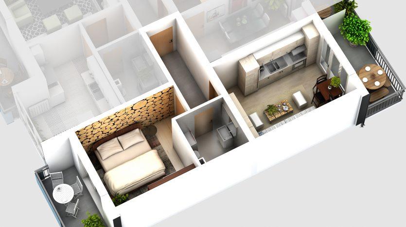 Apartamente hibrid - Alma Central